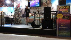 Sanjana Dhillon sings at the finals